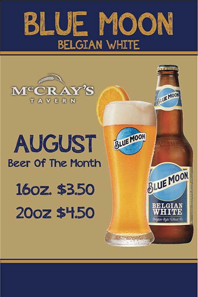 beer of the month at McCray's Tavern