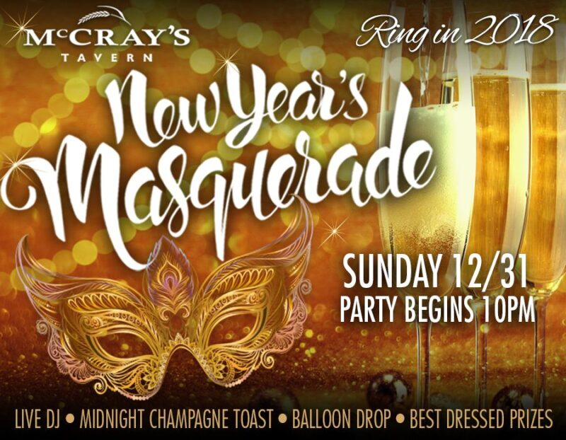 McCrays New Years Event | McCrays Masquerade